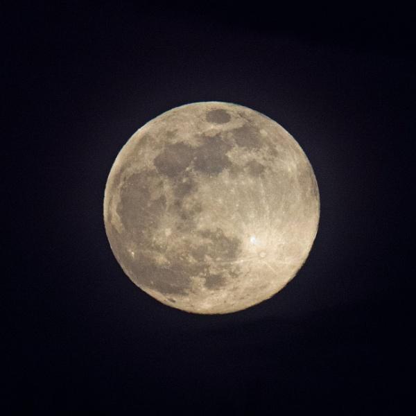 Tonight\'s full moon on the Spring Equinox by oldgreyheron