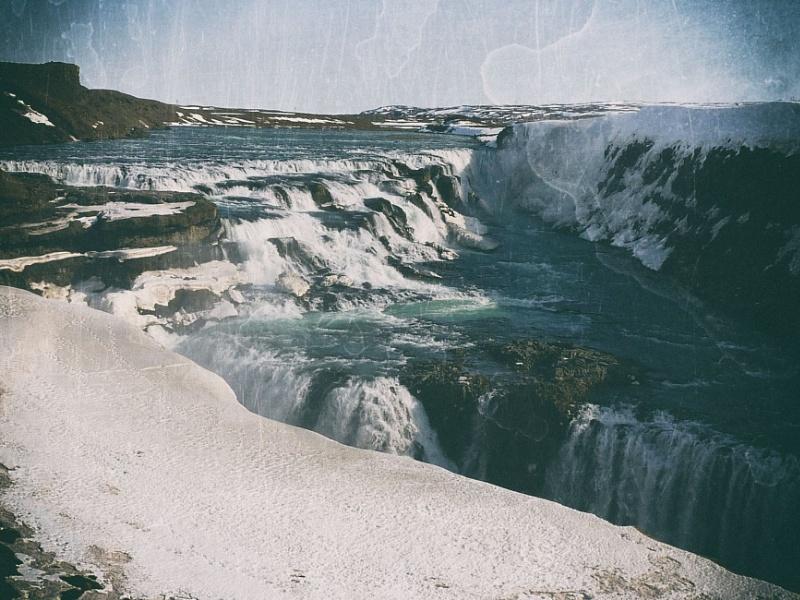 Golden Falls on the White River