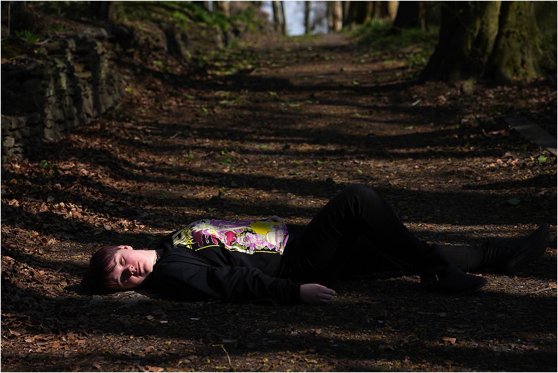 Asleep on a Woodland Path