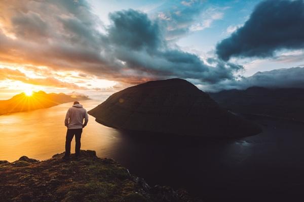 Faroe Island selfie by kasla