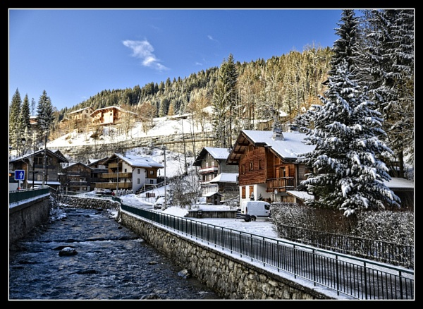 morzine town by ossca