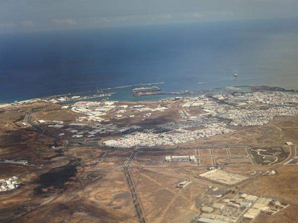 Arrecife Port, Lanzarotie from our plane by YoungGrandad