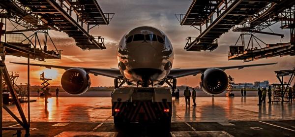 Dreamliner in the Hangar by pitotstatic