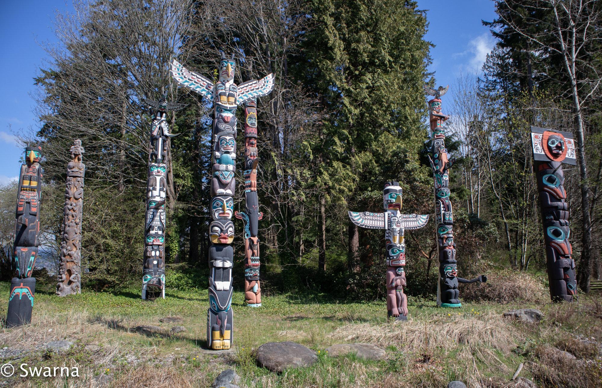 Totem Polls - Stanley Park, Vancouver BC