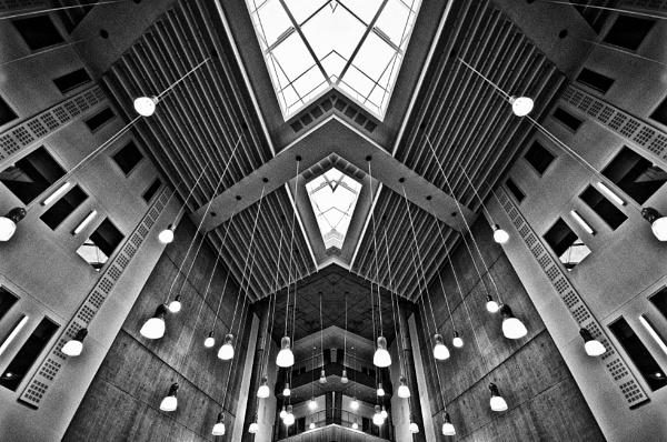 Ceiling David Hockney Building Bradford College by iangilmour