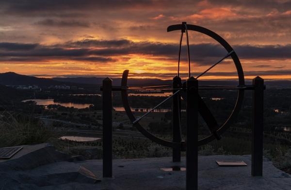 Armillary Sphere, National Arboretum, Canberra by BobinAus