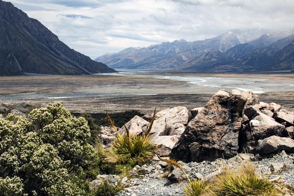 Hooker Valley near Mount Cook NZ by Janetdinah