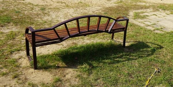 Shadow under the bench by SauliusR