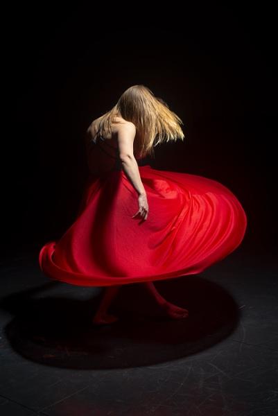 Leighann - red swirl dress by Ahem