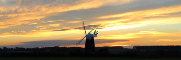 Norfolk Windmill in the sunset by BRobins