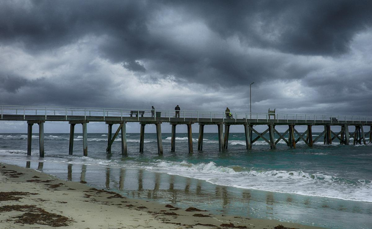 Grange jetty fisherpeople