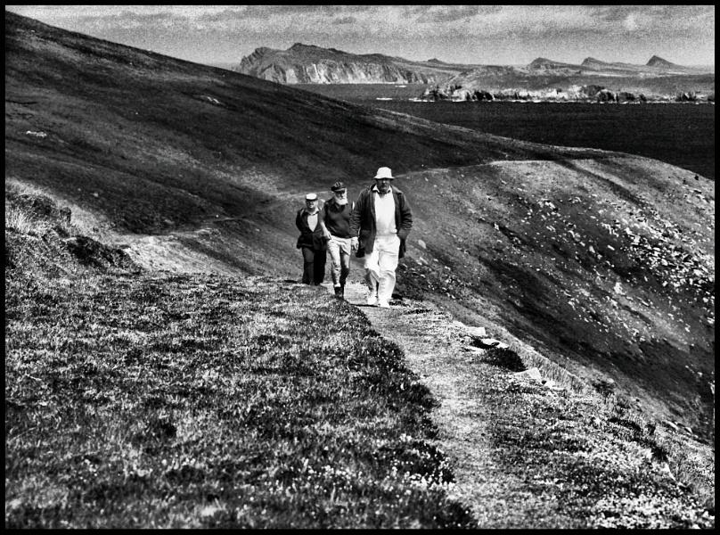 Three Men Walking On Great Blasket
