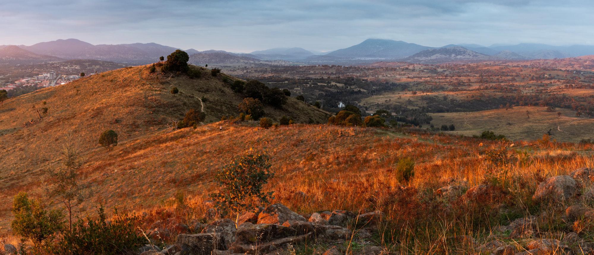 Smokey Sunrise, Urambi Hills, Canberra