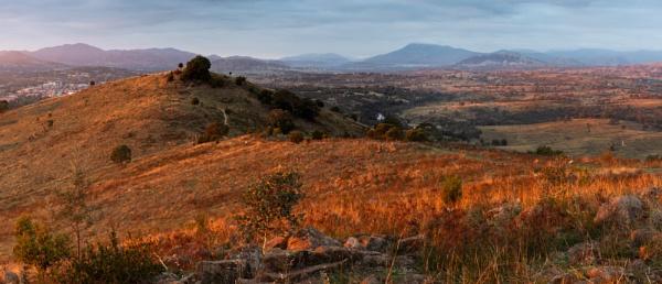 Smokey Sunrise, Urambi Hills, Canberra by BobinAus