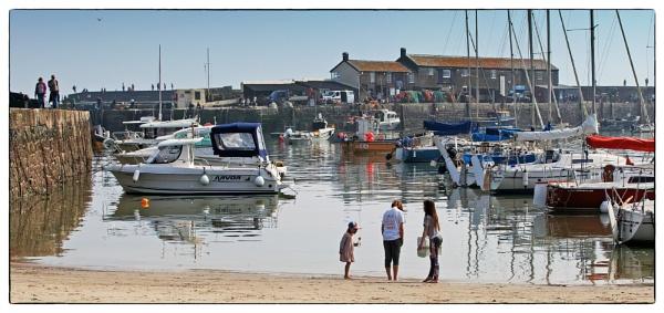 Lyme Regis Harbour by starckimages