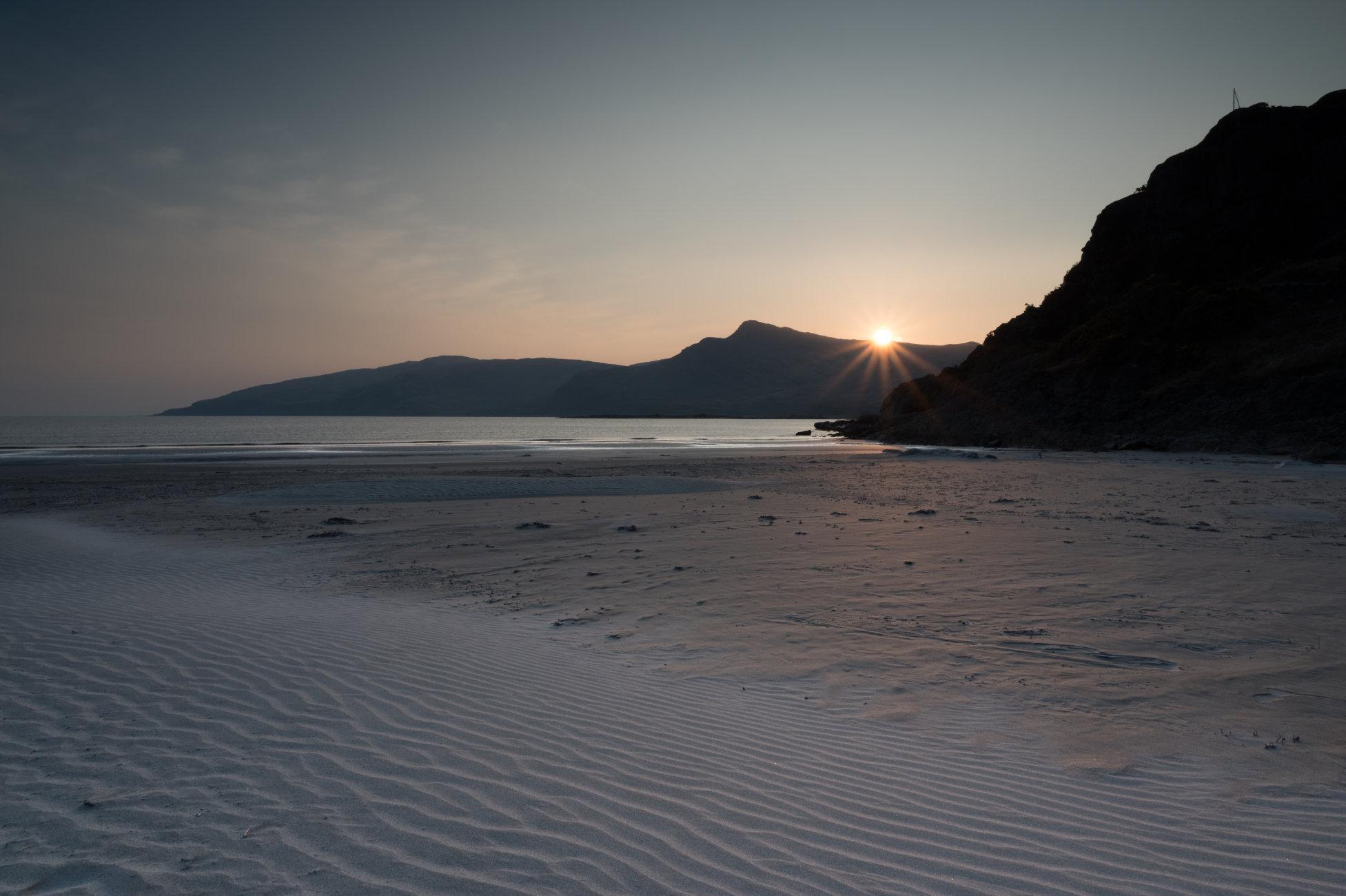 Beach starburst sunset