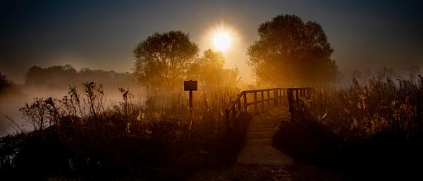 Sunrise bridge by Stevetheroofer