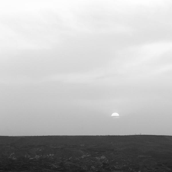 Sunrise over the land