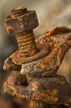 Rusty Scaffold Clamp
