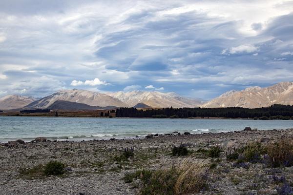 a View over Lake Tekapo by Janetdinah