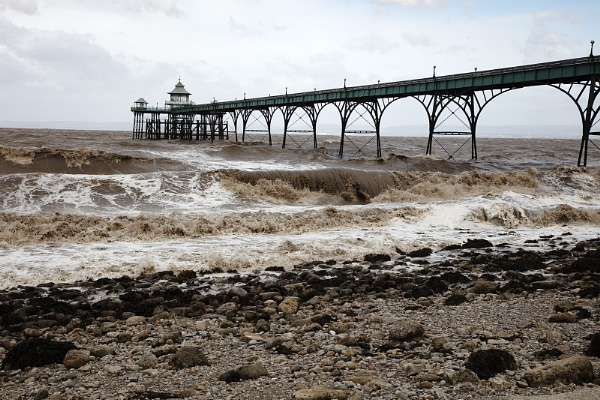 Clevedon Pier  - after Storm Hannah by VincentChristopher