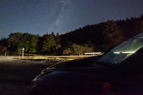 Milky Way night trails by iajohnston
