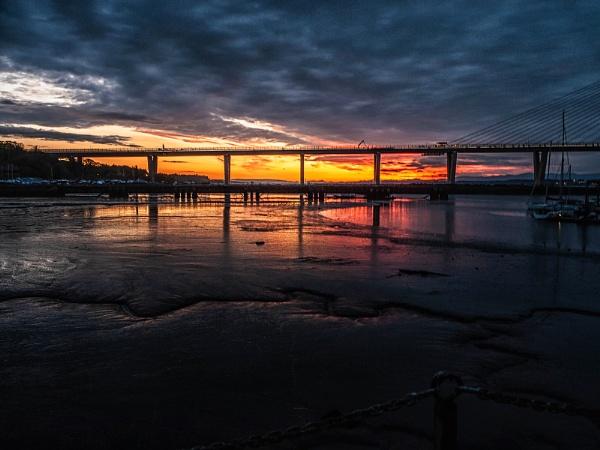 Clouds, Bridge, Light & Mud by kaybee