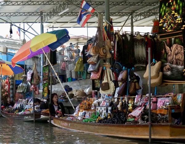 The floating market outside Bangkok by caj26