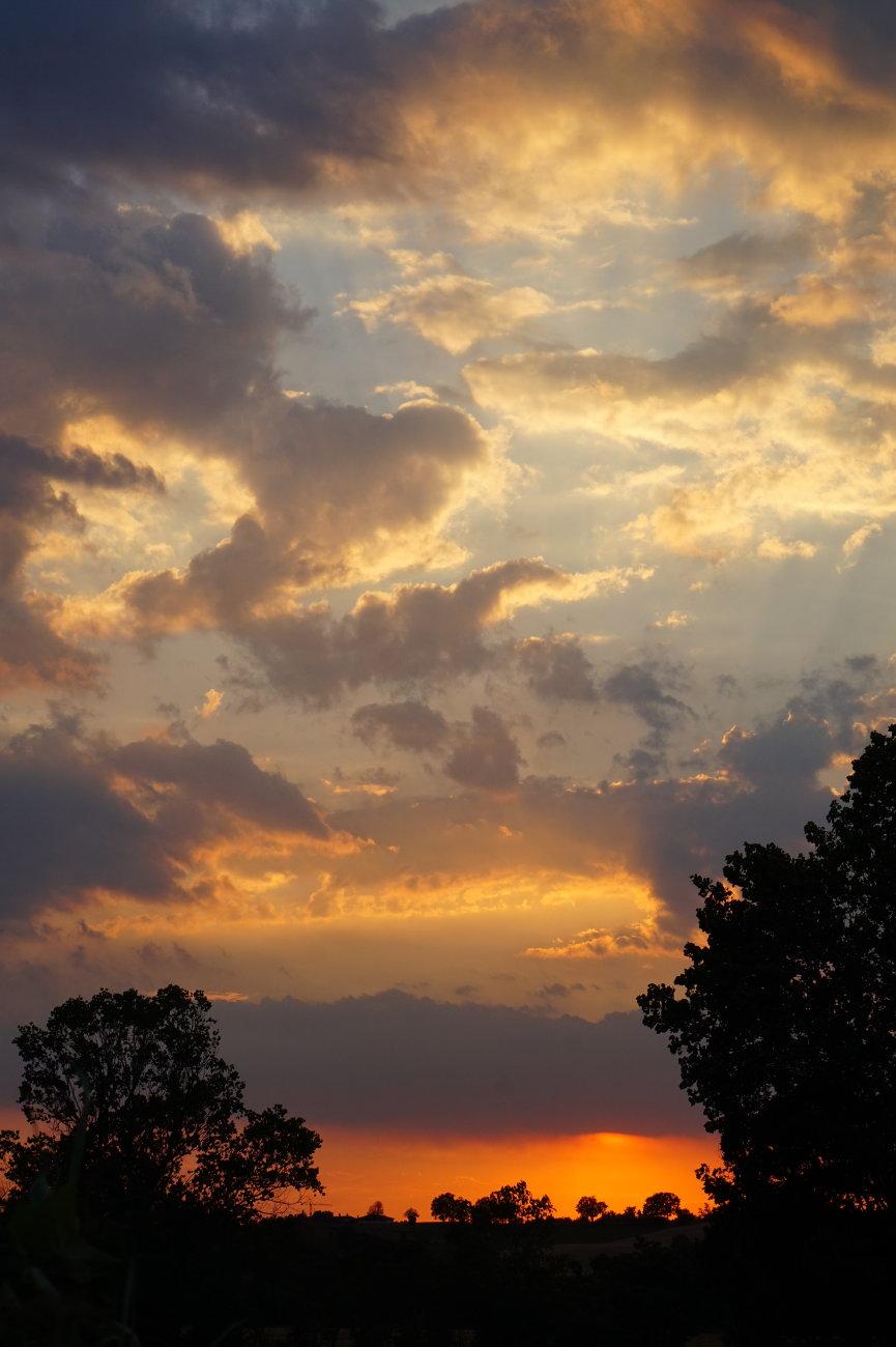 A June sunset.