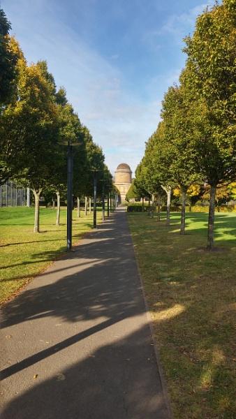 Autumn Shadows at the Mausoleum.
