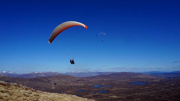 Paraglider near Glencoe (title edited) by AliEscobar