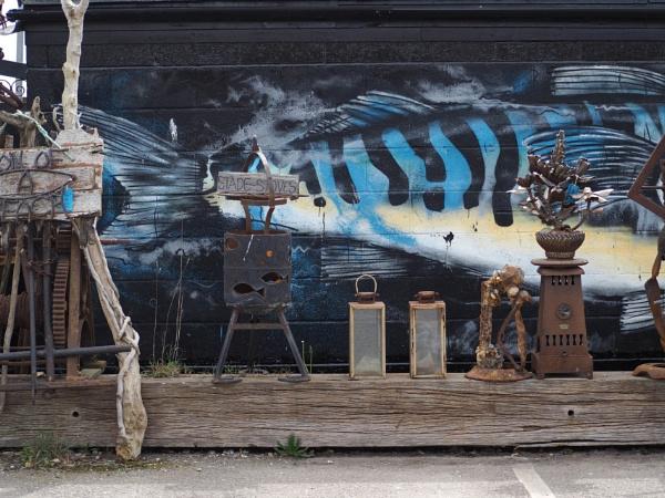 Hastings Beach Art 02 by AgeingDJ
