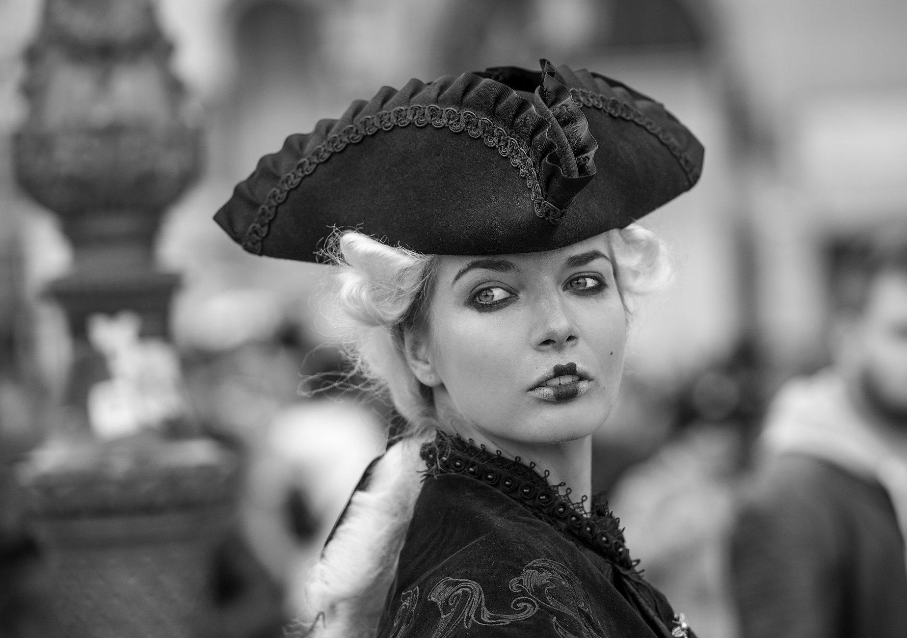 Venice carnival in B&W