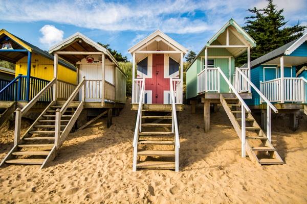 Beach huts, Wells next the sea, Norfolk by davereet