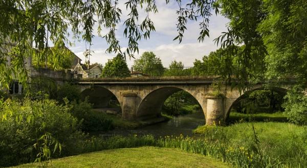 Chalais Bridge...River Tude...Charente France by bornstupix2