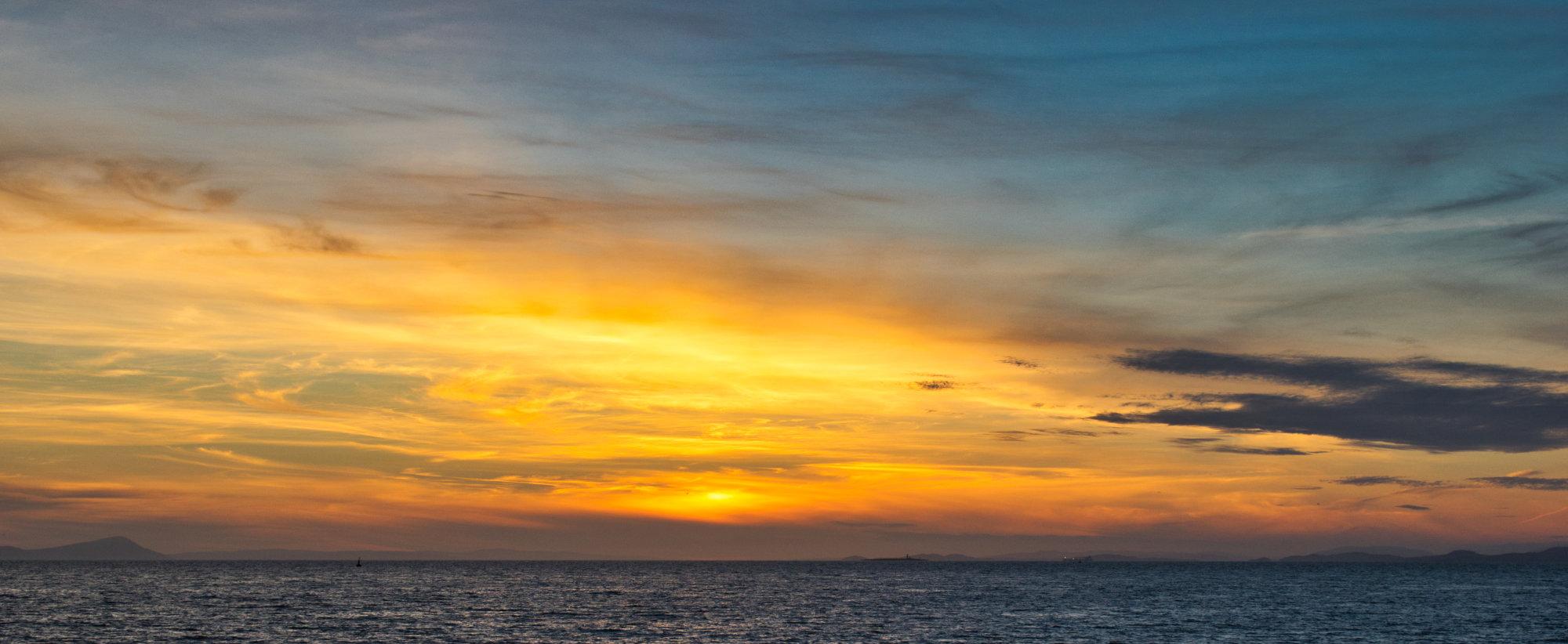 Sunset over Ayr