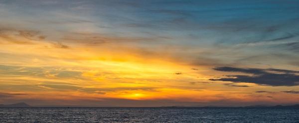 Sunset over Ayr by RojBlake