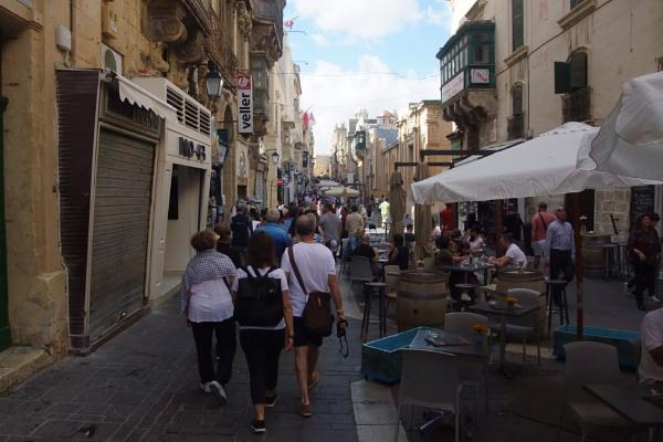 Pedestrian thoroughfare, Valletta, Malta by MentorRon
