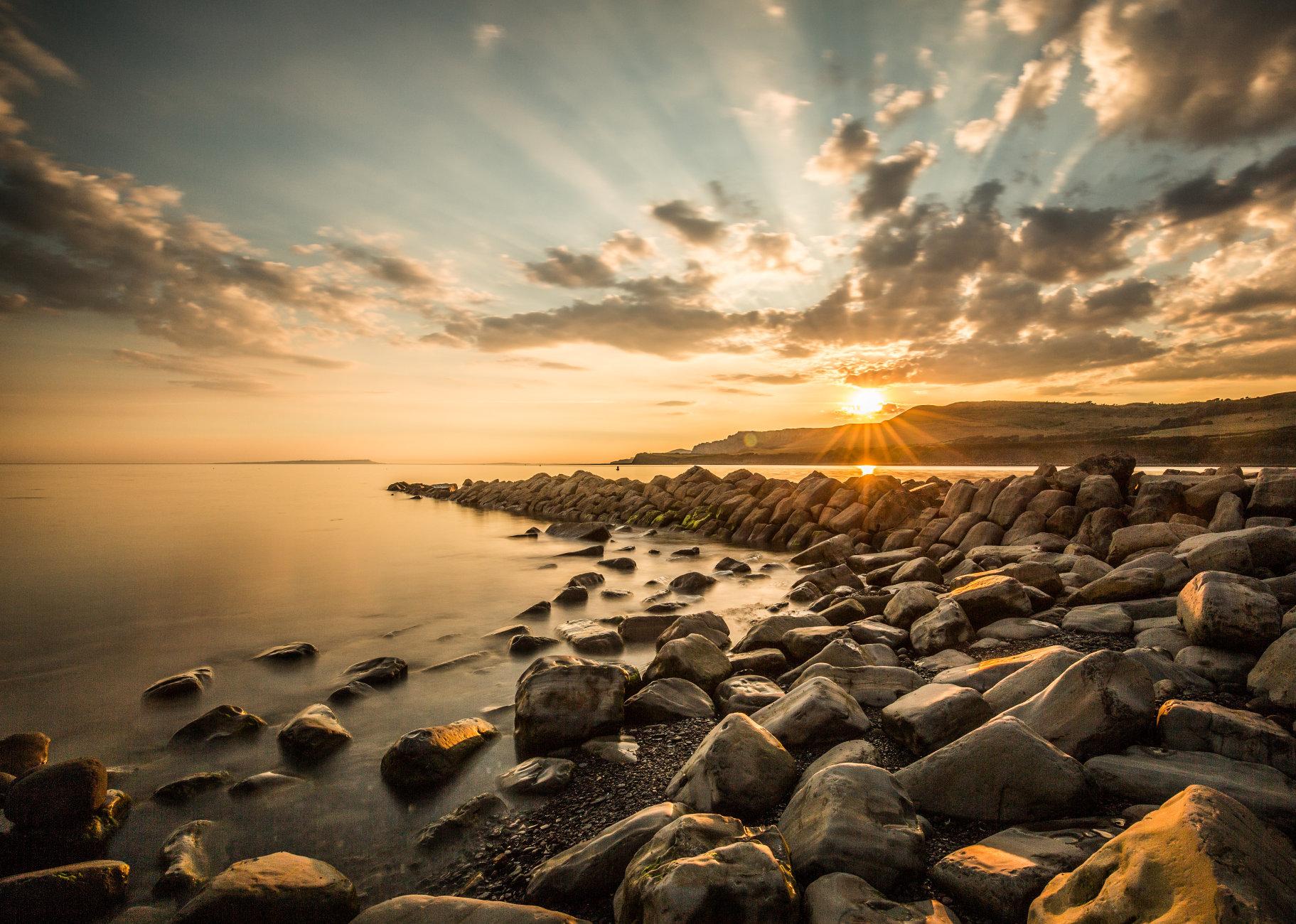 sunset Clavell's Pier Kimmeridge