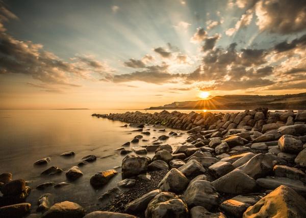 sunset Clavell\'s Pier Kimmeridge by penny_slacke