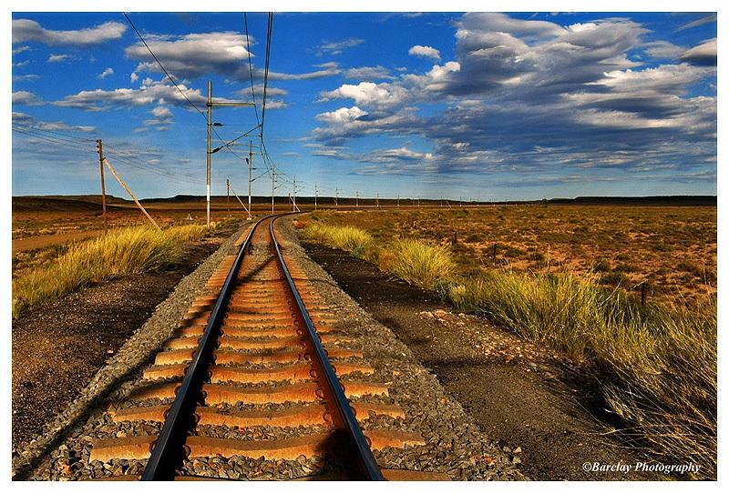 Railroad tracks Mieliefontein Karoo