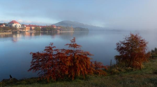 Stay awhile soft mist, Tuggeranong, Canberra by BobinAus