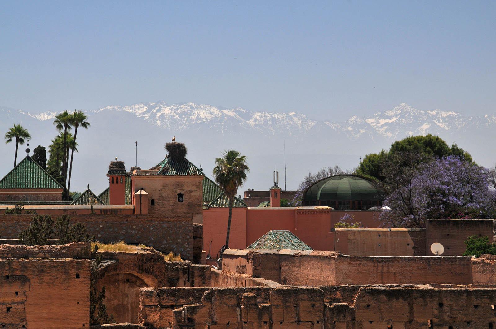 Tha Atlas Mountains from Marrakech