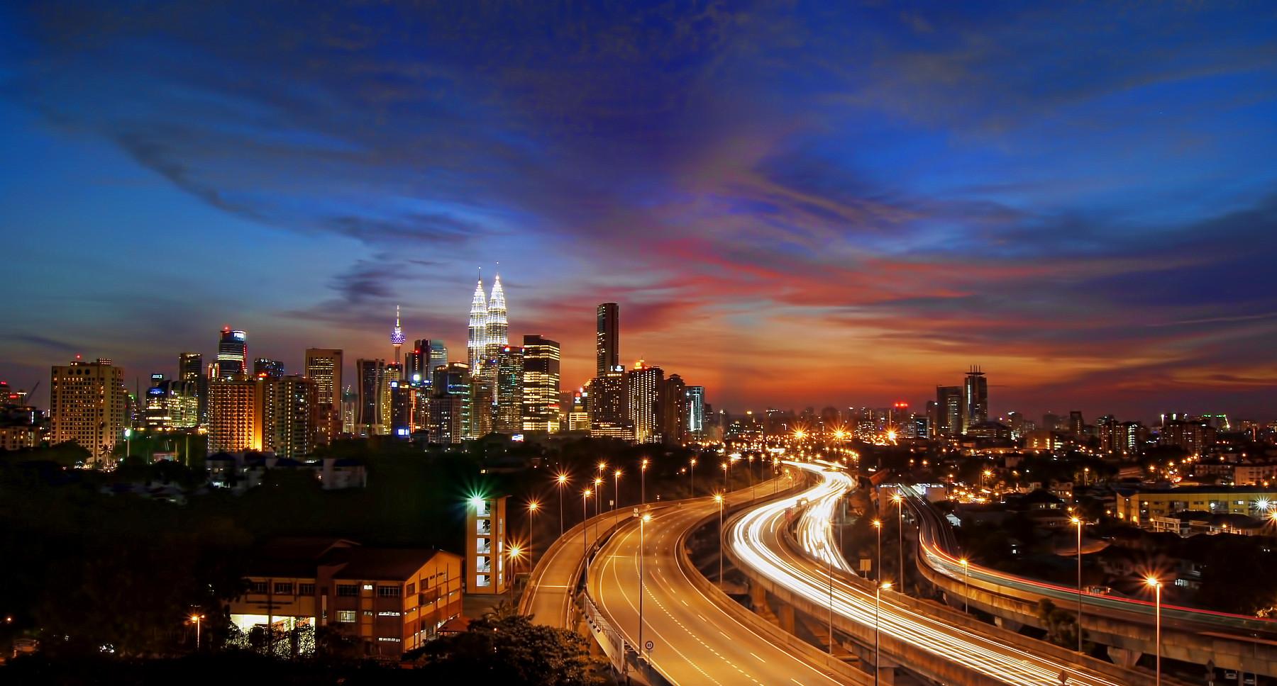 Kuala Lumpur at sunset.........