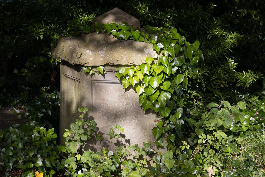 BRISTOL, UK - MAY 13 : Sunlit tomb along Birdcage Walk in Brist