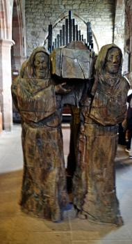 St Cuthbert funeral carved in oak
