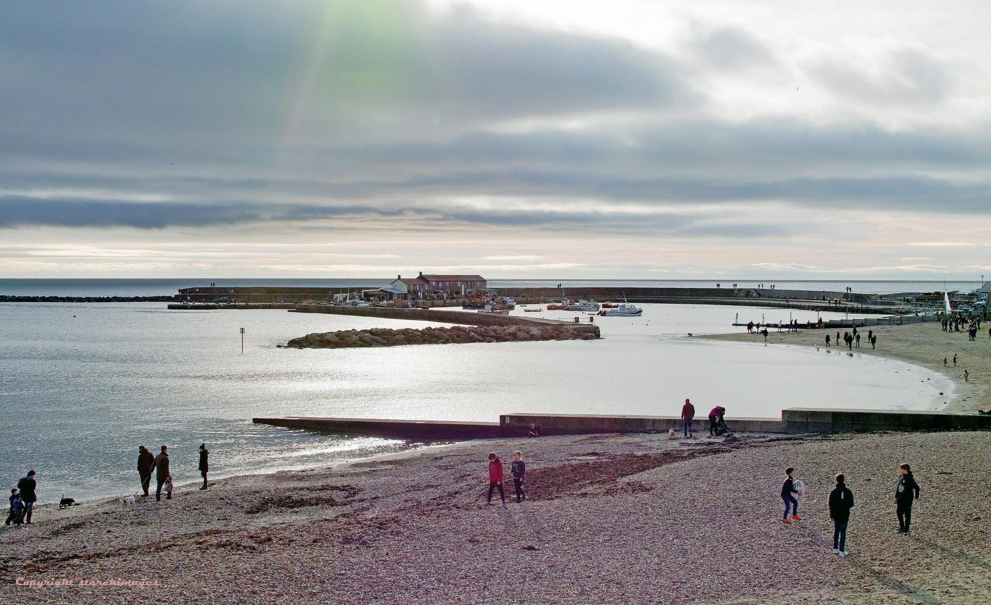 Lyme Regis Cobb Seascape