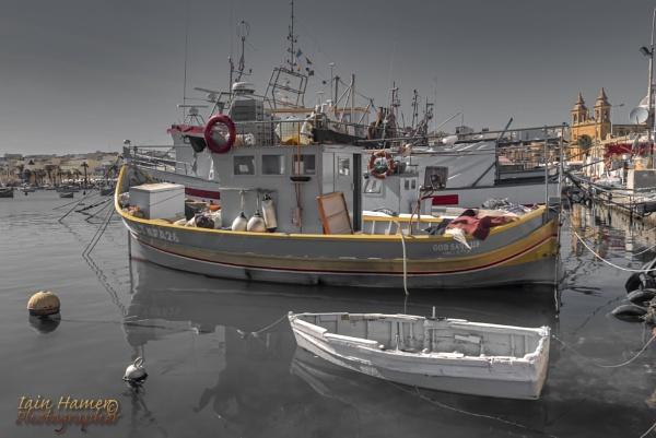 Fishing Boat in Marsaxlokk Malta by IainHamer