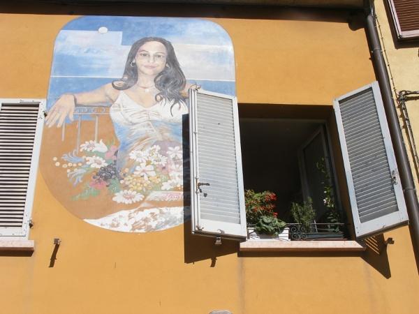 Mural painting, Rimini by laureenofscotts