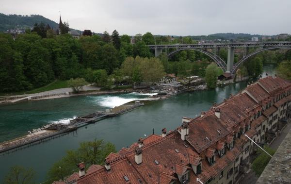 Bridge over the Aare river, Bern by Kako